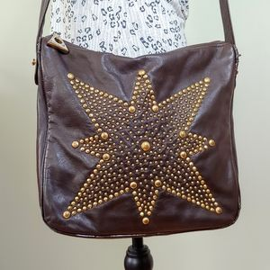 Vintage Bag with Studded Star Pattern